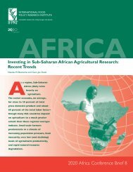 Investing in Sub-Saharan African agricultural research: recent trends