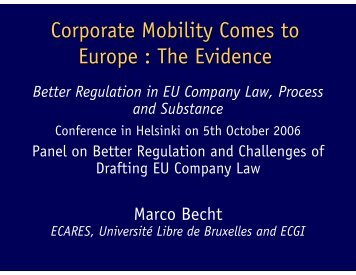 Becht - European Corporate Governance Institute