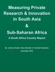 South Africa country report - ASTI - cgiar