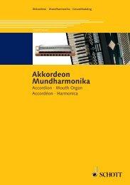 Akkordeon Mundharmonika - Schott Music