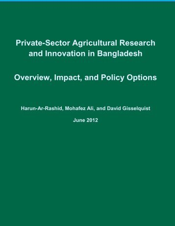 Bangladesh country report - ASTI - cgiar
