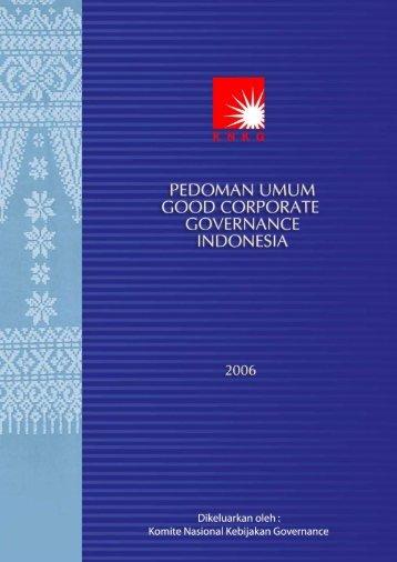 Pedoman Umum GCG Indonesia 2006 - European Corporate ...