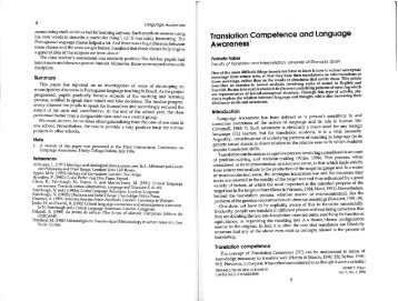 Translation Competence and Language Awareness - LexiCon ...