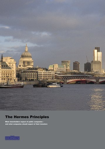 The Hermes Principles - European Corporate Governance Institute