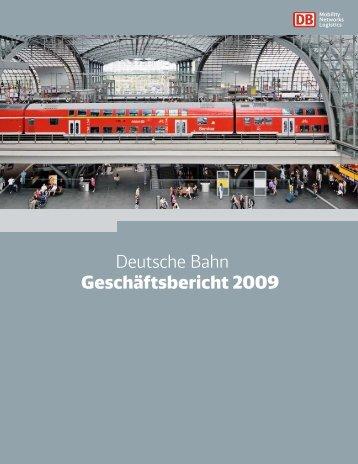 Deutsche Bahn Geschäftsbericht 2009 - DB Schenker Rail