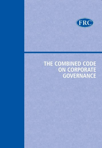 the combined code on corporate governance - European Corporate ...