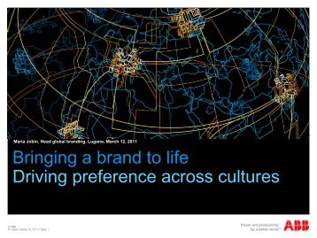 Bringing a brand to life Driving preference across cultures - Thought ...