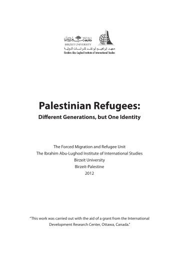 Palestinian Refugees: Different Generations, but One Identity