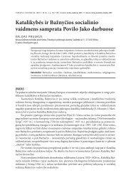 katalikybės ir Bažnyčios socialinio vaidmens samprata - Lietuvos ...