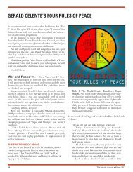 gerald celente's four rules of peace - Trends Research Institute