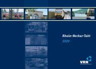 Rhein-Neckar-Takt 2020 - VRN Verkehrsverbund Rhein-Neckar