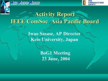 APB Activity Report (Jan-June,2004)(pdf) - IEEE Communications ...