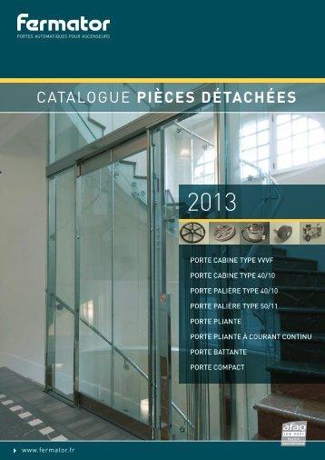 Télécharger le catalogue des pièces détachées ... - Fermator France
