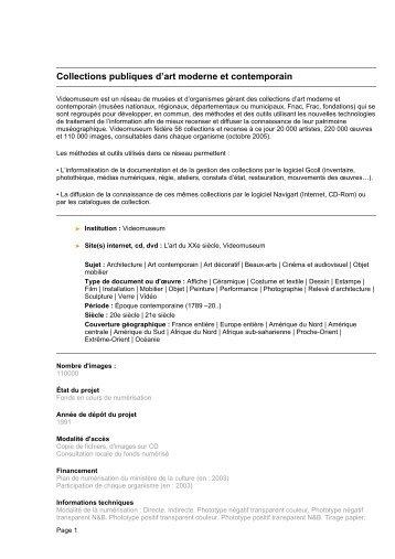 Collections publiques d'art moderne et contemporain - Patrimoine ...