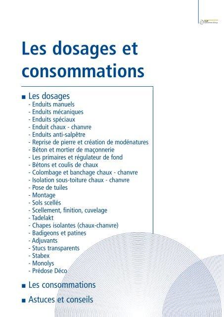 Les Dosages Et Consommations Socli