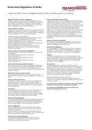 Know How Regolatore di livello - Mankenberg