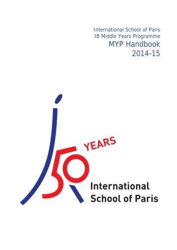 MYP Handbook 2013-14 - International School of Paris