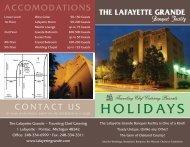 Holiday Menu - Lafayette Grande