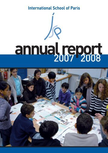 Annual Report 2008-09 - International School of Paris