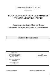 PLAN DE PREVENTION DES RISQUES D'INONDATION DE L'EPTE ...
