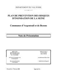 PLAN DE PREVENTION DES RISQUES D'INONDATION DE LA ...