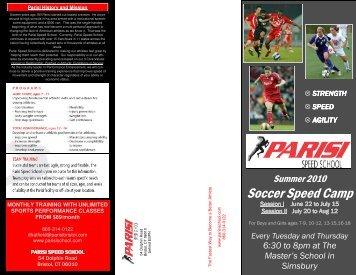 Summer Soccer Parisi Camp 2010 - Parisi Speed School