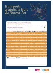 Transports gratuits la Nuit du Nouvel An - Le blog de la ligne J