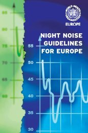 Night noise guidelines for Europe - WHO/Europe - World Health ...