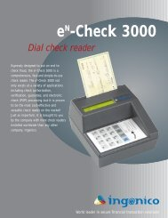 Ingenico EnCheck 3000 - Valued Merchant Services