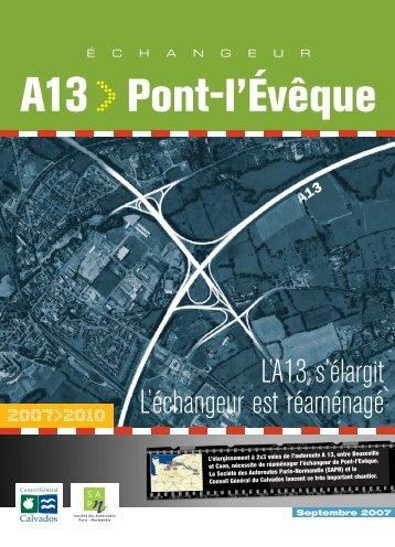 Echangeur A13 > Pont l'évêque - Les panneaux autoroutiers français