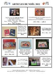 ARTICLES DE NOËL 2007 - L'Ecole du Chat Libre du Parisis - Free