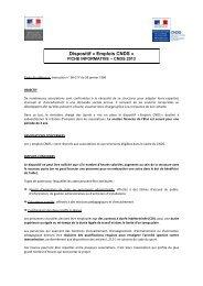 Emplois CNDS 2013 - Les services de l'État dans le Val-d'Oise