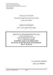 ENQUETE PUBLIQUE Du 1er au 31 octobre 2012 inclus TRAVAUX ...