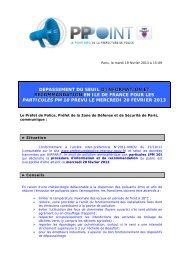 DEPASSEMENT DU SEUIL D'INFORMATION ET D'INFORMATION ...