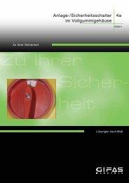 Anlage-/Sicherheitsschalter - GIFAS W.J. Gröninger ELECTRIC GmbH