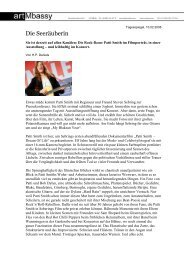 "Tagesspiegel ""Die Seeräuberin"" Patti Smith 10.02.2008 - artMbassy"