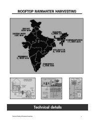Technical details - Rainwater Harvesting