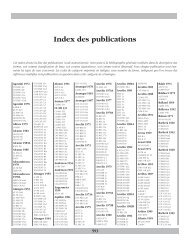 Index des publications