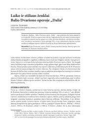 """Laiko ir stiliaus ženklai Balio Dvariono operoje """"Dalia"""""""