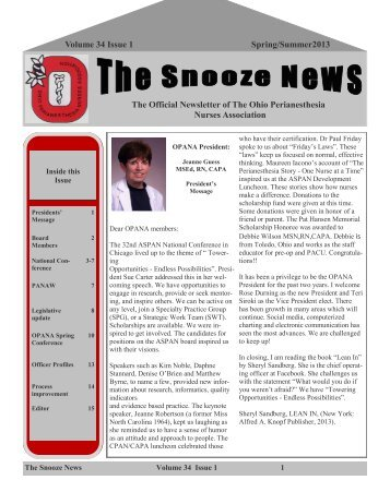Volume 34 Issue 1 Spring/Summer2013 The Official Newsletter of ...