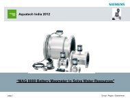 SITRANS F M MAG 8000 Product introduction - Aquatechtrade
