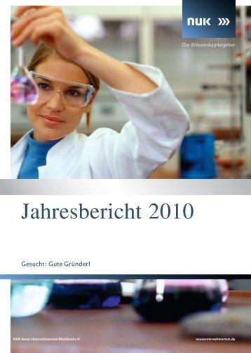 Jahresbericht 2010 -  NUK Neues Unternehmertum Rheinland