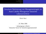 Simultane Optimierung von Managementregeln im Asset-Liability ...
