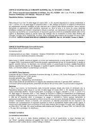 CORTE DI GIUSTIZIA DELLE COMUNITA' EUROPEE, Sez. III, 18/12 ...