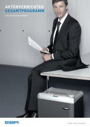 EBA Aktenvernichter Gesamtprogramm 2011