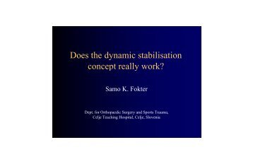 Does the dynamic stabilization concept really work - ArgoSpine