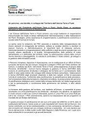 Discorso di apertura del Presidente - Unione Terre e Fiumi