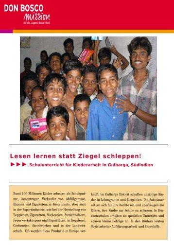 Sklavenarbeit in Indiens Ziegeleien - Don Bosco Mission