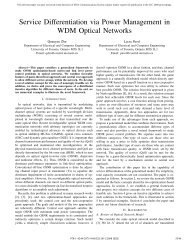 Service Differentiation via Power Management in ... - IEEE Xplore
