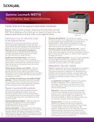 Gamme Lexmark MS710 Imprimantes laser monochromes
